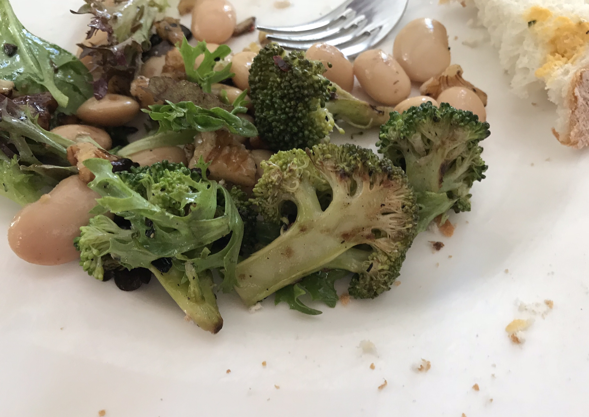 Chargrilled broccoli and butter bean salad