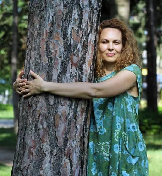 slika Biljane Grbović u prirodi