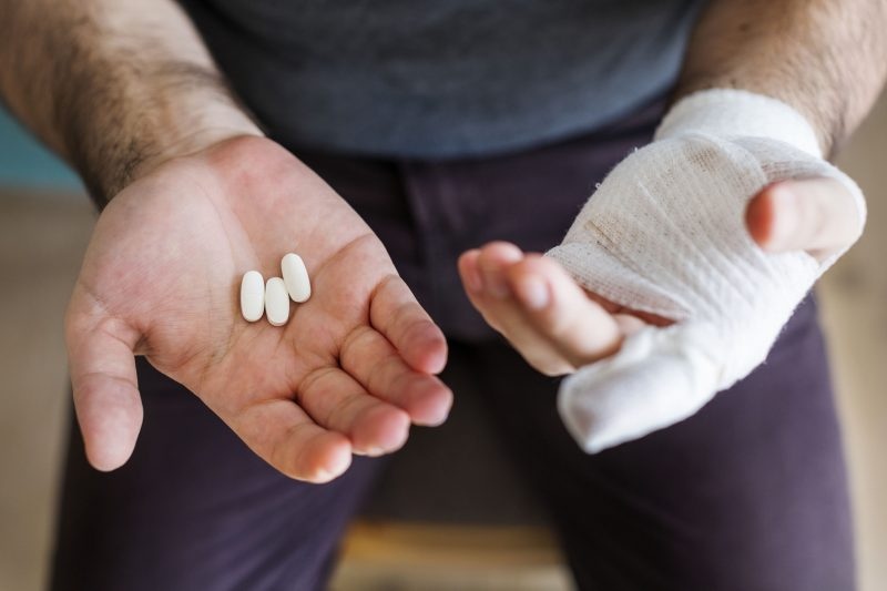 Work injury leading to opioid addiction