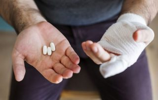 Work injury leading to opioid addiction