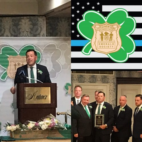 Sean Riordan Honored by NYCD Emerald Society