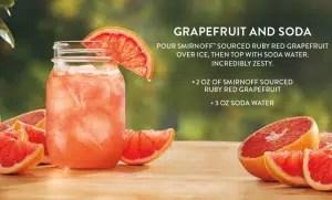 Vodka Smirnoff Sourced Grapefruit