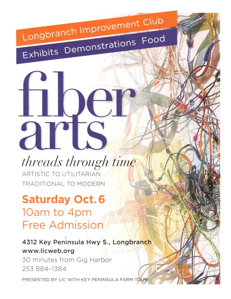 Longbranch Improvement Club Fiber Arts October 6, 2018
