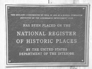 Longbranch-Improvement-Club-National-Register-Historic-Places-plaque