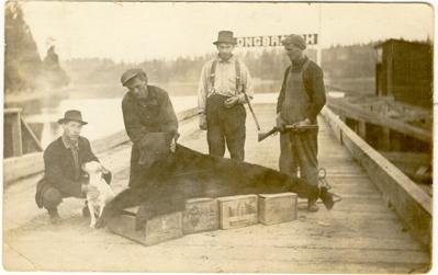 Vintage photo of Rickarts on Longbranch Dock