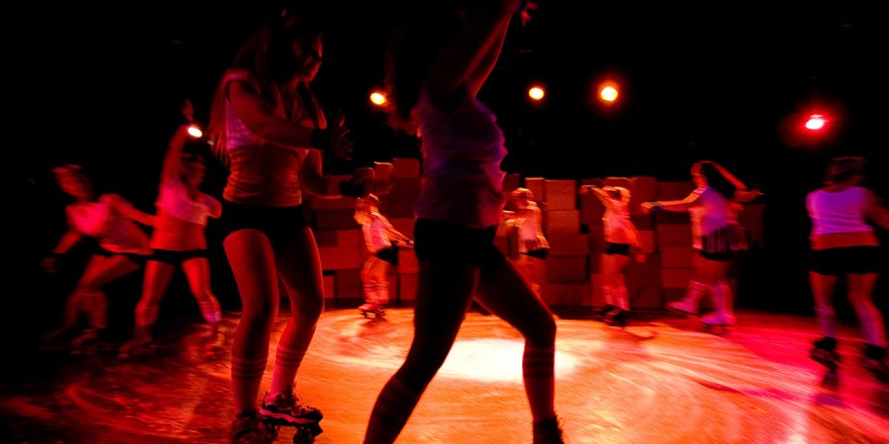 Chorus (a.k.a. The Large Hadron Collider) in Roller Skating With My Cousin. Photo: Erin Preston (2010).