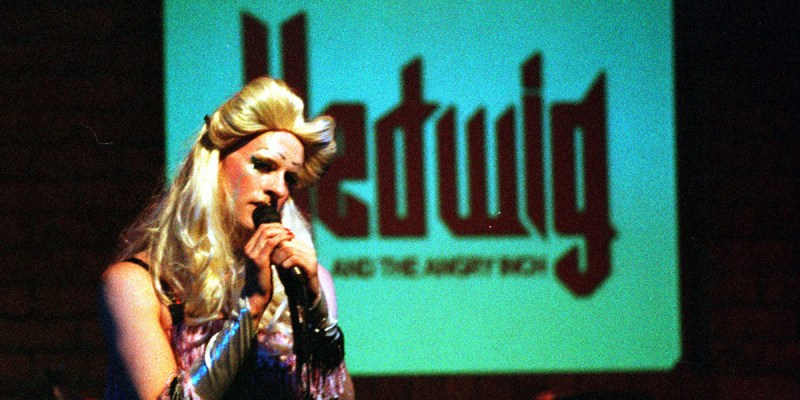 Brian L. Upton as Hedwig in Hedwig and the Angry Inch (2002). Photo: James Bevins