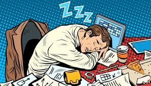 Você dormindo no trabalho