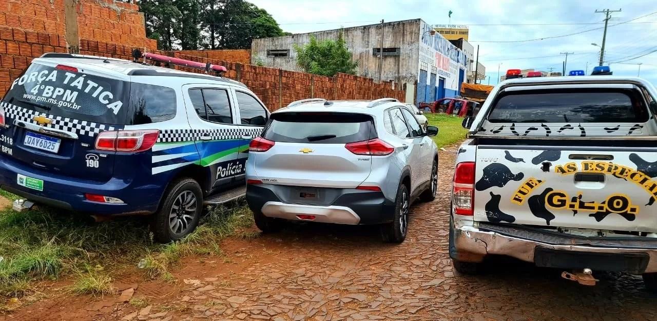 PM e PN recuperam na fronteira veículo roubado em São Paulo