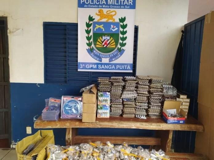 PM apreende no distrito de Sanga Puitã mercadorias de descaminho