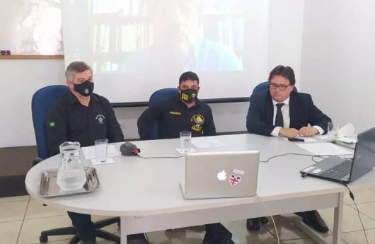 Julio Cesar Alves de Lima (Chefe da Divisão de Fiscalização de Agrotóxicos e Afins/MAPA); Coronel Wagner Ferreira da Silva (diretor do DOF); e, Luciano Barros (presidente do IDESF).