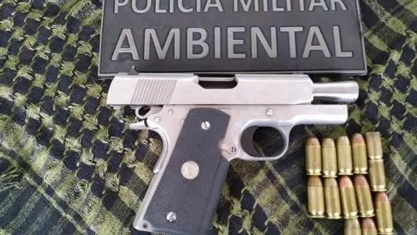 Em Mundo Novo, jovem é preso por disparos e porte ilegal de pistola e munições