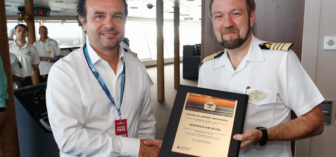 Refrenda Cozumel, con el arribo del crucero Norwegian Bliss, su liderazgo turístico en el Caribe: Pedro Joaquín