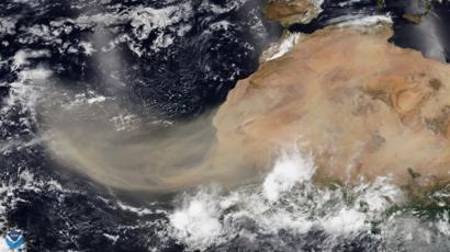 Súper nube de polvo del Sahara, aún lejos de Quintana Roo