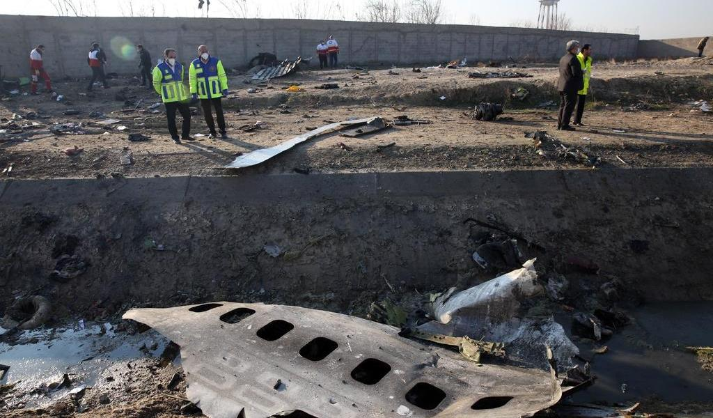 Descartan terrorismo en accidente de avión ucraniano en Irán