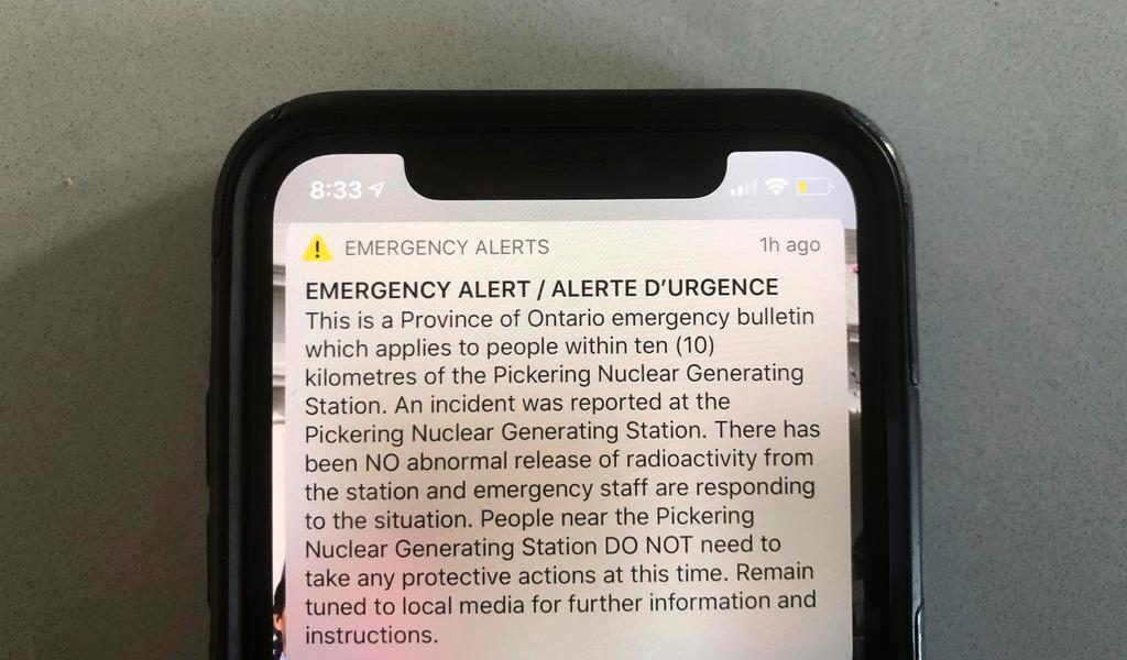 Por error, envían alerta nuclear en Canadá