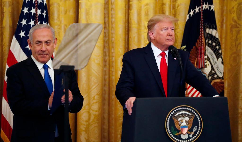 Presenta Trump su 'acuerdo del siglo' para la paz en Medio Oriente