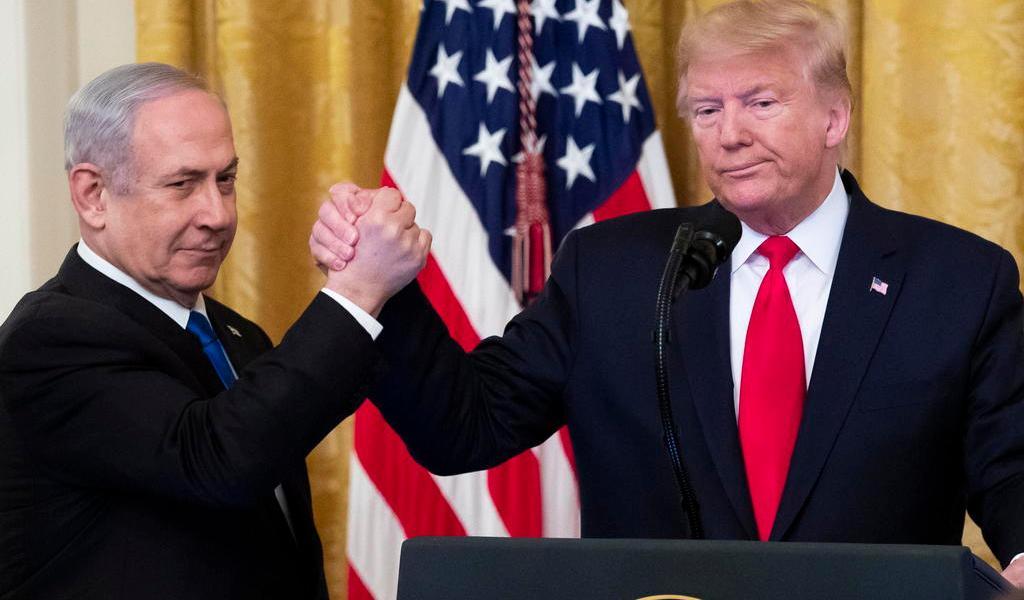 Propone Trump dar a Israel parte de Cisjordania y Jerusalén en su plan de paz
