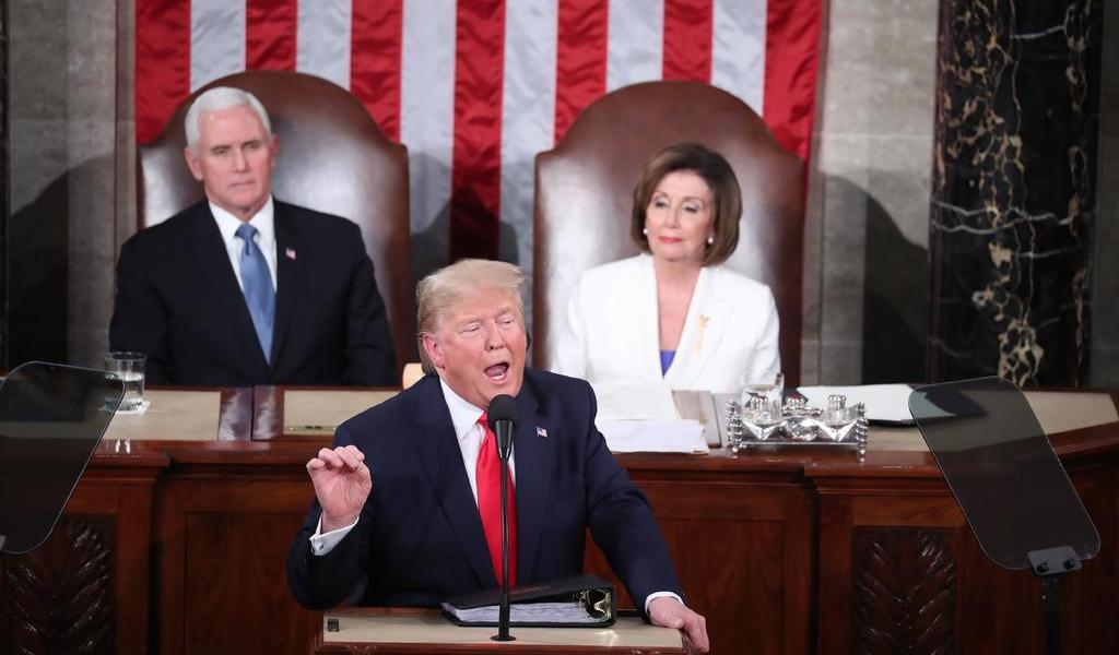 Trump saca músculo económico en su discurso sobre Estado de la Unión