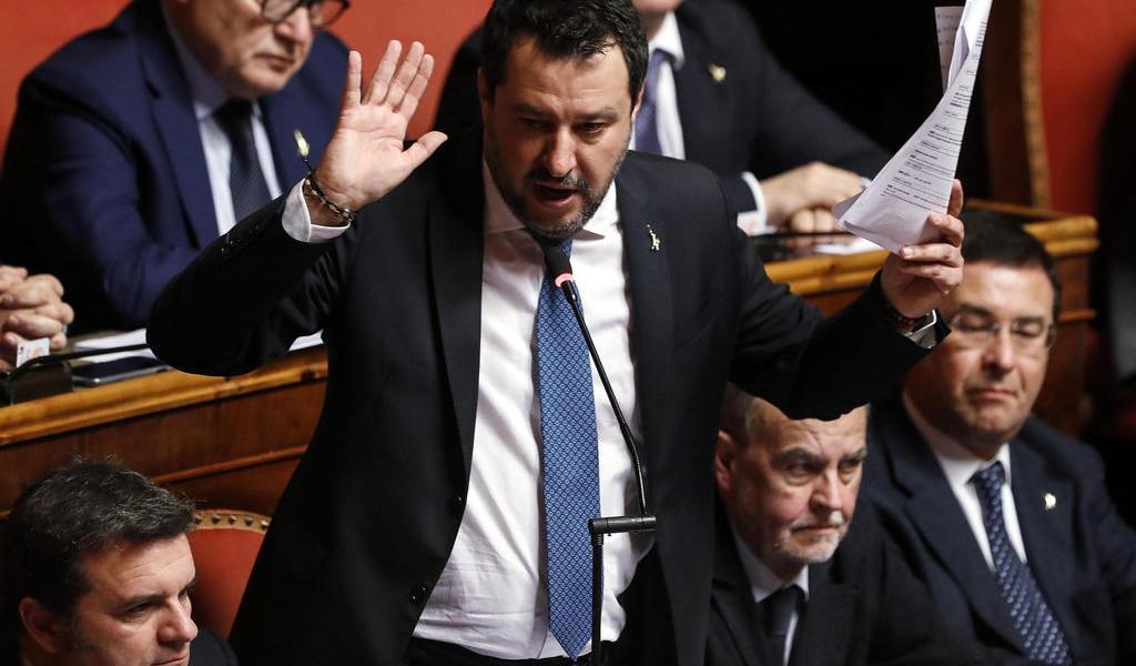Autoriza Senado italiano que Salvini sea juzgado por su política migratoria
