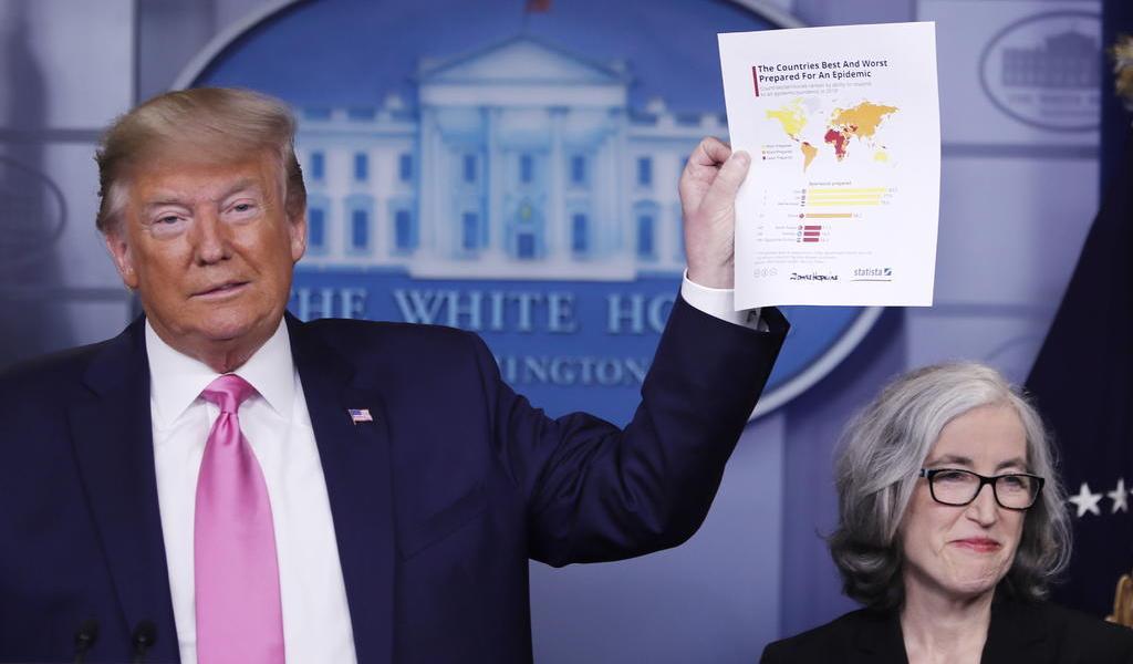 Anuncia Trump equipo para controlar el coronavirus en EUA