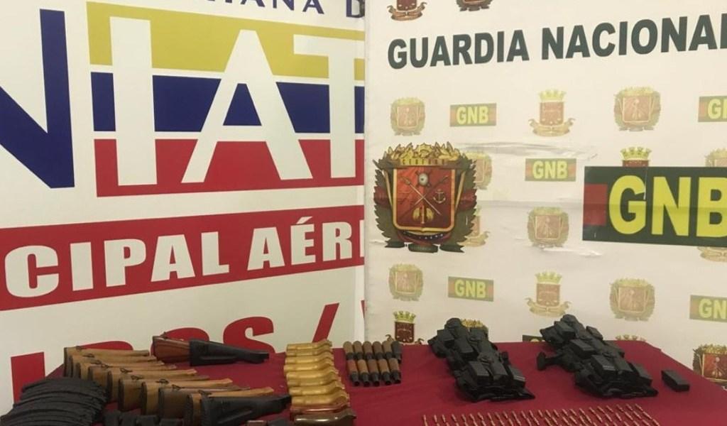 Venezuela decomisa armamento de guerra