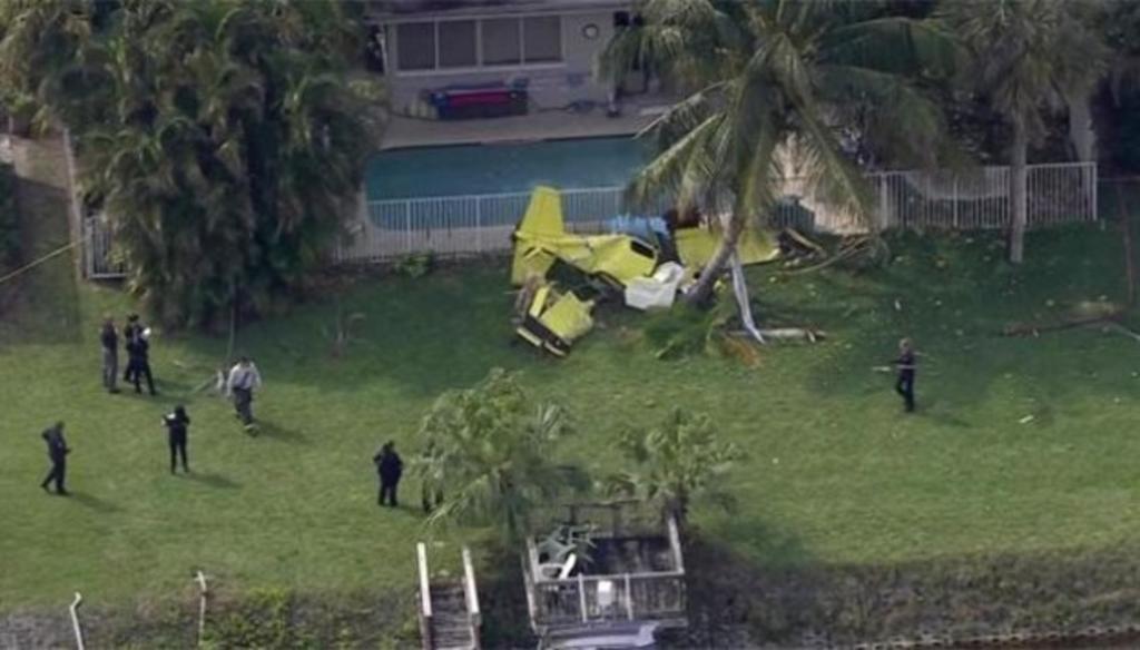 Muere una persona al caer avioneta en Florida