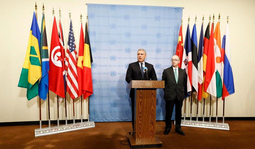 Anuncia Iván Duque cooperación con la ONU