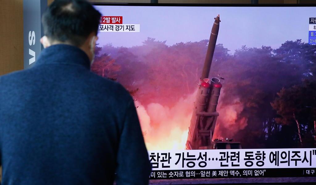 Corea del Norte lanza dos misiles en su tercer test de armas en marzo