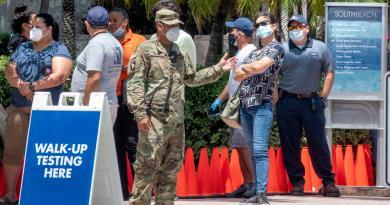 Rebasa Florida los 10 mil casos diarios de COVID-19; un nuevo récord