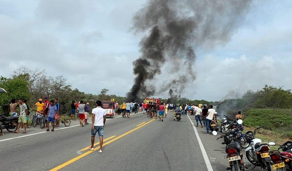 Incendio de camión en Colombia deja 7 muertos
