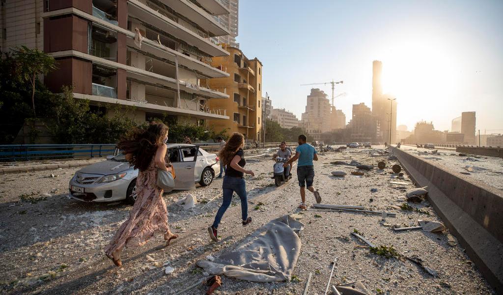 Reportan al menos 10 muertos por explosión en Beirut