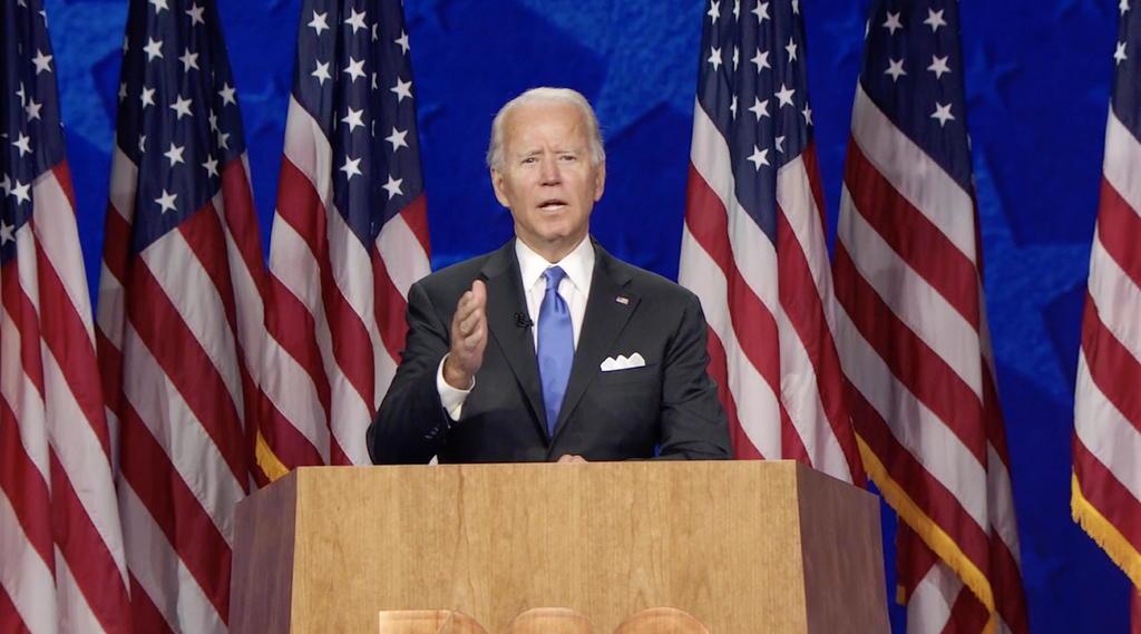 Acepta Joe Biden nominación demócrata a Presidencia de EUA