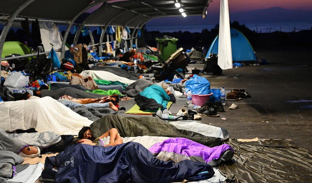Llegan a Alemania los primeros refugiados del campamento griego de Moria