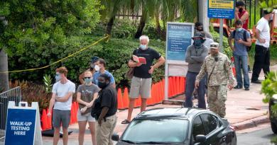 Florida, segundo estado con más muertes por COVID-19 desde julio en EUA