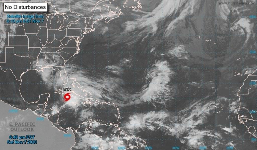 Tormenta 'Eta' alcanza a Cuba; esperan marejadas e inundaciones