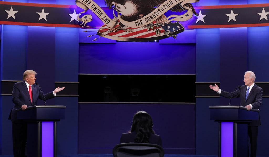 ¿Botón silenciador llegó para quedarse en debates presidenciales de EUA?