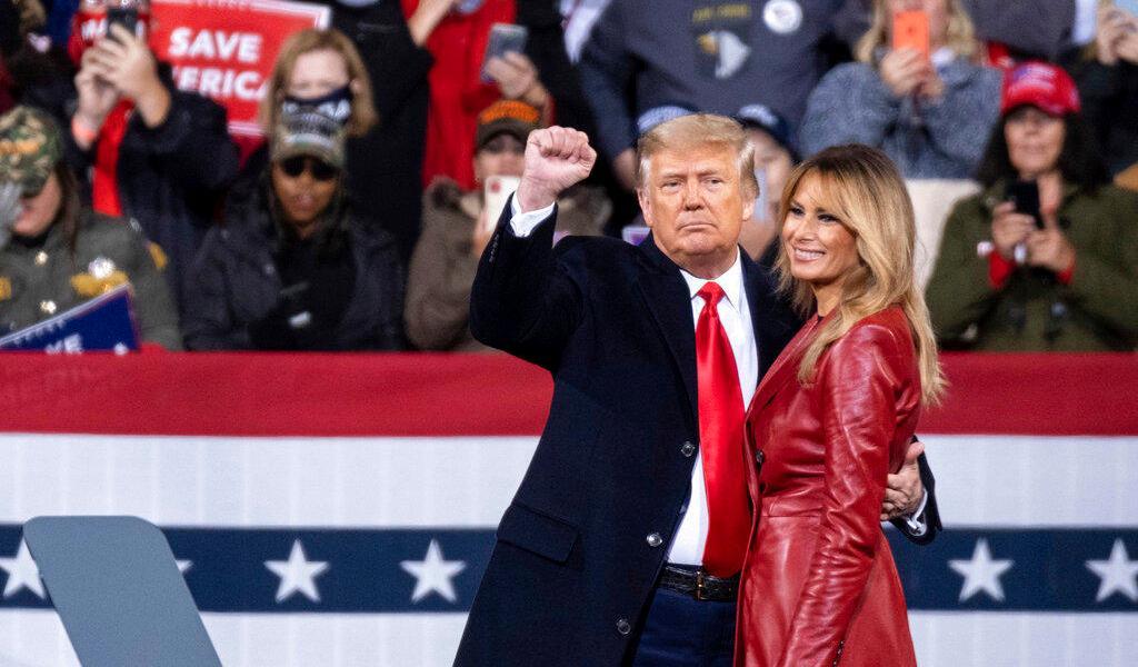 Donald Trump afirma que ganó en Georgia durante abarrotado acto de campaña