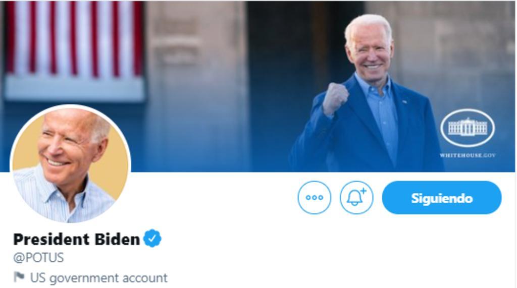Biden escribe 'No hay tiempo que perder' en su cuenta nueva de Twitter como presidente de EUA