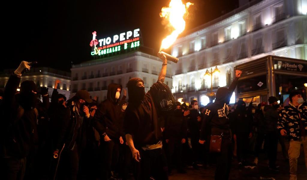 Protestas en España dejan 14 detenidos