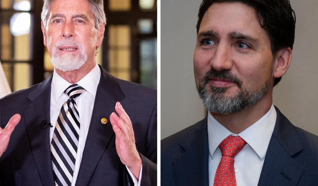 Trudeau habla con Sagasti sobre COVID y crisis migrante de Venezuela