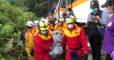 Suman 51 muertos por accidente de tren en Taiwán