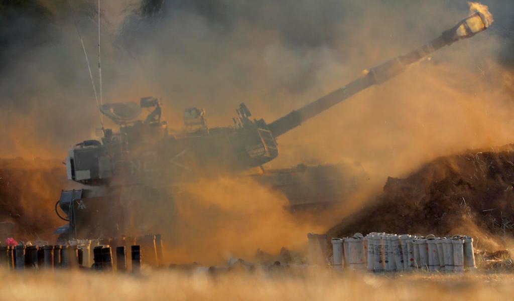 Se intensifica enfrentamiento entre palestinos e israelíes con bombardeos desde tierra y aire en Gaza