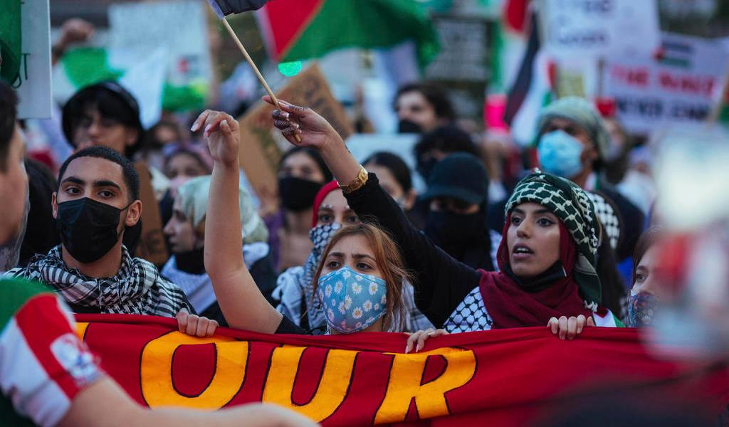 Protestan en EUA por ataques de Israel a Franja de Gaza