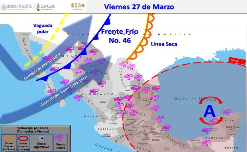 Clima hoy para Cancún y Quintana Roo 27 de marzo de 2020