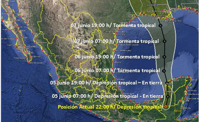 """Clima: """"Cristóbal"""" traerá lluvias torrenciales y fuertes vientos esta noche en Quintana Roo"""