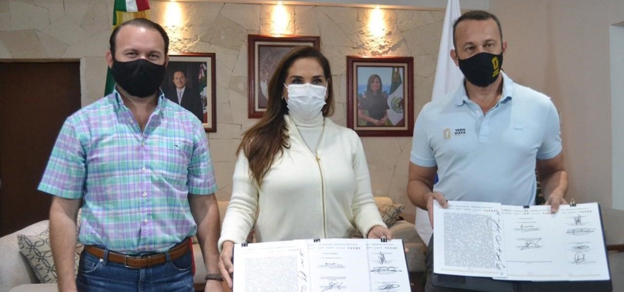SUSCRIBE MUNICIPIO DE BENITO JUÁREZ CONVENIO DE TREN MAYA