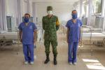 En tiempo récord, Sedena convierte dormitorio en un hospital Covid