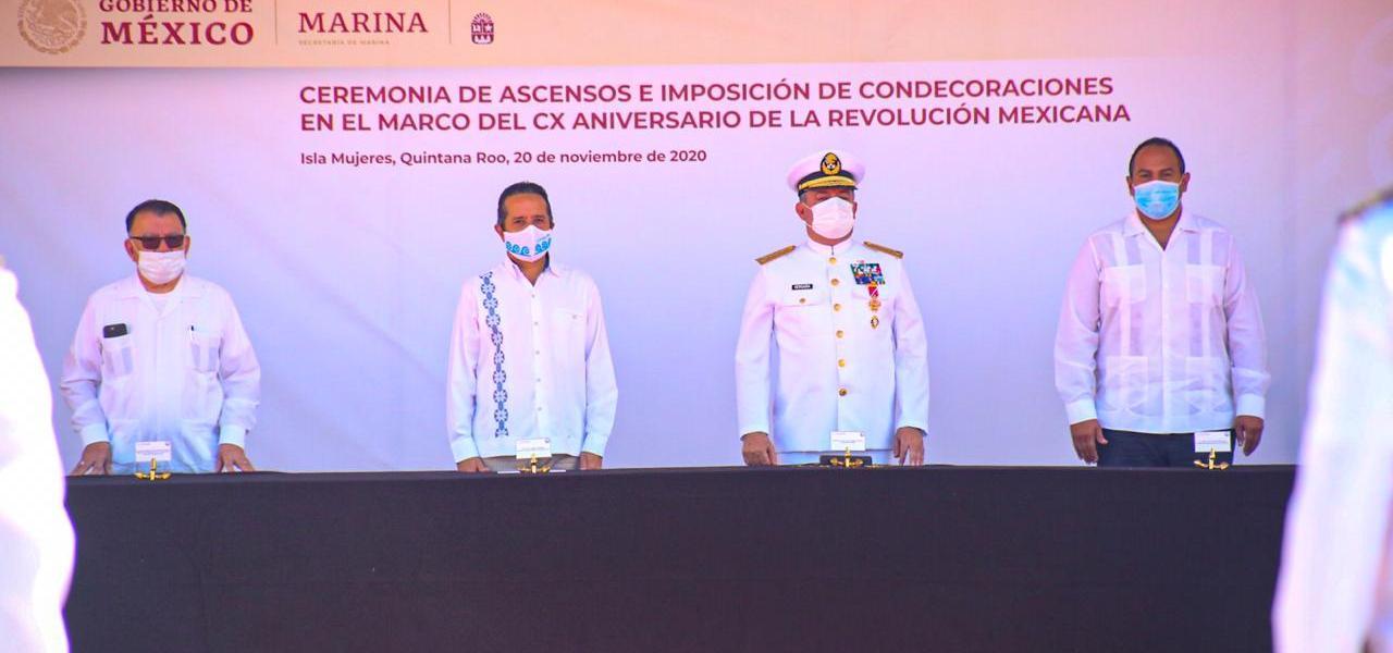 CONMEMORAN 110 ANIVERSARIO DE LA REVOLUCIÓN MEXICANA EN ISLA MUJERES