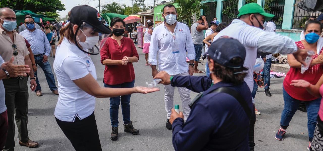 VERIFICA MARA LEZAMA CUMPLIMIENTO DE PROTOCOLOS SANITARIOS EN TIANGUIS